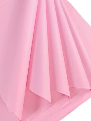 10 hojas de papel de seda rosa pastel, papel de seda libre de ácidos, papel de seda artístico, papel de regalo para...