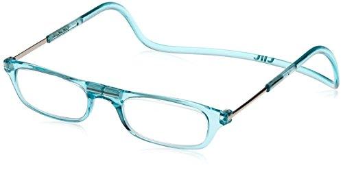 [クリックリーダー] 老眼鏡 Clic Readers メンズ ターコイズ +1.50-(FREEサイズ)