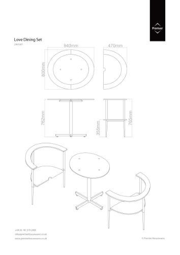 Premier Housewares Esstisch-  Stuhl-Set kaufen  Bild 1*