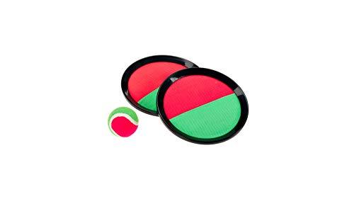 Smart Planet® Piłka na rzep na plażę - gra na rzep 2 x tarcza o średnicy ok. 19 cm - 1 piłka Ø ok. 6 cm gra łapania kotów tarcza na rzepy piłka plażowa Catchball