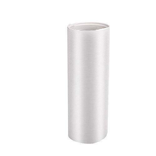 Liery - Manguera de escape portátil para aire acondicionado, manguera de repuesto universal extendida contra el sentido de las agujas del reloj, manguera de aire acondicionado con rosca, Weiß A, 15 cm