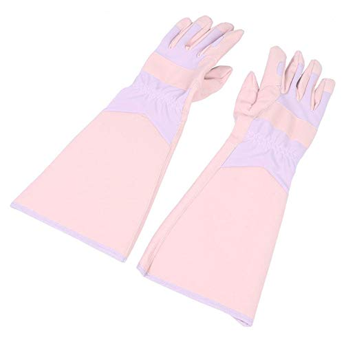 MOBFIDOFG Safety Work Gloves Gardening Gloves for Women and Men ThornProof Rose Pruning Leather Gloves With Long Cuff