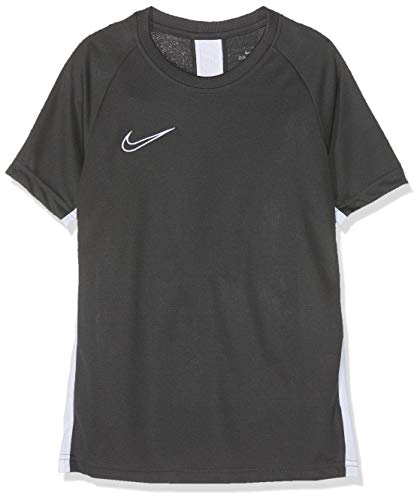 Nike Y NK DRY ACDMY19 TOP SS T-shirt Mixte Enfant Anthracite/Blanc FR : M (Taille Fabricant : M)