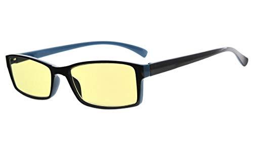 Eyekepper UV-bescherming geel getinte lens leesbril +1.25 Schwarz-blau Rahmen-bb60 Linse