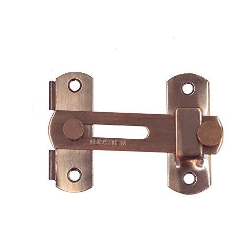 Tiberham - Cerrojo de seguridad para puerta corredera, 100 x 70 mm, acero inoxidable, color bronce