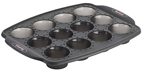 Tefal -  J4170214 - Crispybake Moule 12 Mini Muffins 29X21cm Silicone Noir
