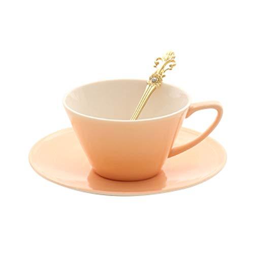 Belle tasse de café en céramique tasse avec cuillère à soucoupe Simple et classe, No7