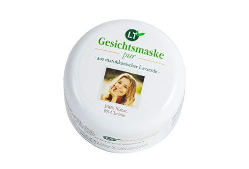 Bio-Gesichtsmaske aus original marokkanischer Lavaerde | PUR | 150ml | vegan, chemie- und seifenfrei | Tonerde-Maske zur chemiefreien Gesichtsreinigung | für fettige Haut