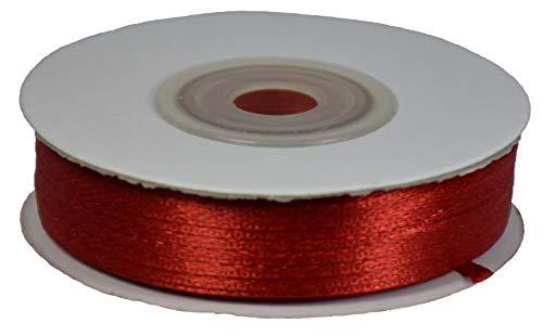 Nastro Tessuto Doppio Raso 3Mm X 50Mt Rosso Cod.16