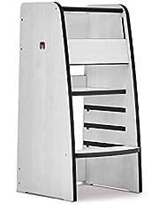 Bianconiglio Kids Trusty Learning Tower, Legno ingegnerizzato (Pino Bianco A Poro Aperto)
