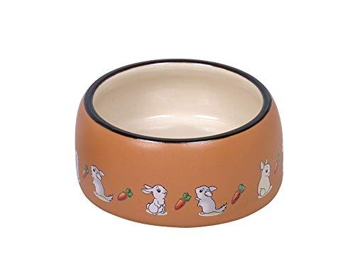 Nobby Nager Keramik Futtertrog Rabbit Ø 12 x 5 cm, 0,25 l