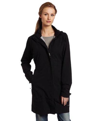 Big Sale ExOfficio Women's Rain Logic Trench Coat,Black,Large