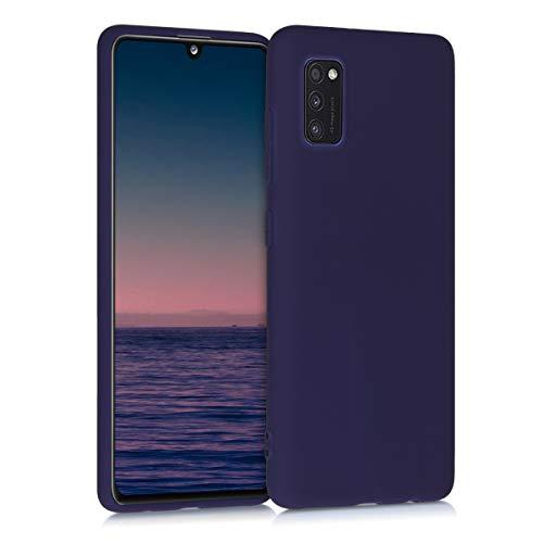 kwmobile Funda Compatible con Samsung Galaxy A41 - Carcasa de TPU Silicona - Protector Trasero en Azul Profundo