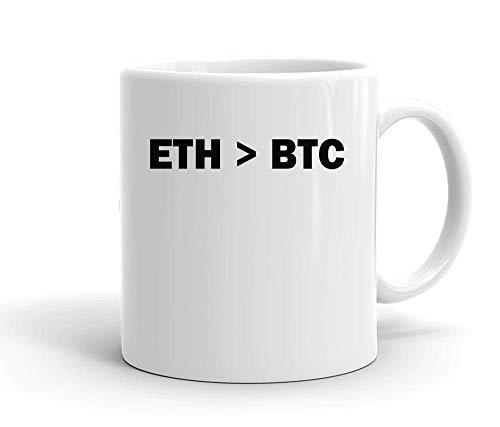 IDcommerce ETH > BTC Tasse en Céramique Blanche pour Le Thé Et Le Café
