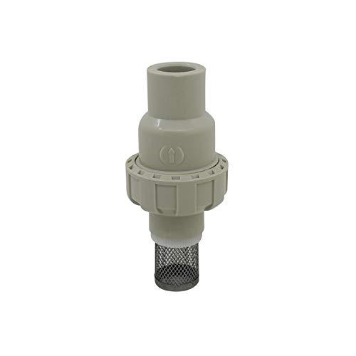 Valvula de pie pvc 20 25 32 40 50 63mm valvula antirretorno bola con filtro valvula retencion aspiracion agua piscina pozo bomba (Diámetro Interno 32mm)