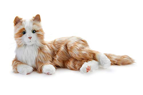 Joy for All -Robotic Reclining Orange Tiger Cat - Stuffed Animal Therapy for People with Memory Loss from Aging and Caregivers