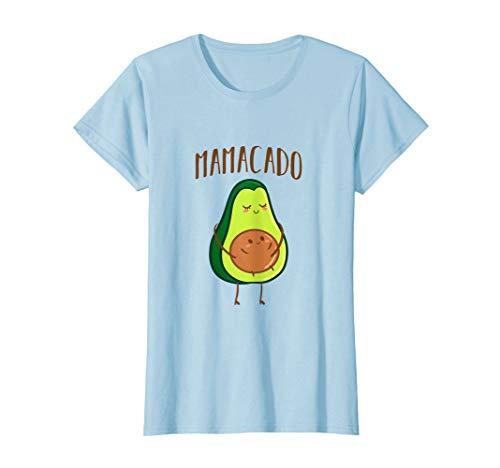 Damen Mamacado T-Shirt Schwangerschaft Verkündung Avocado T-Shirt