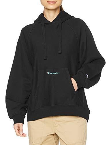 [チャンピオン] パーカー 綿100% スクリプトロゴ リバースウィーブ フーデッドスウェットシャツ CW-T101 レディース ミッドナイトブラック L
