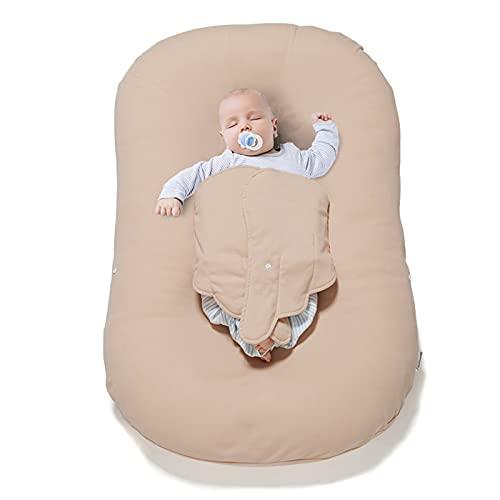 GLYIG Nido Bebe Recien Nacido - Reductor de Cuna nidos para Bebes, Nido Bebé Recién Nacido Cuna Nido Portátil Reductora de Cama Cómodo y Desmontable de Algodón para Bebés 0-3 Años