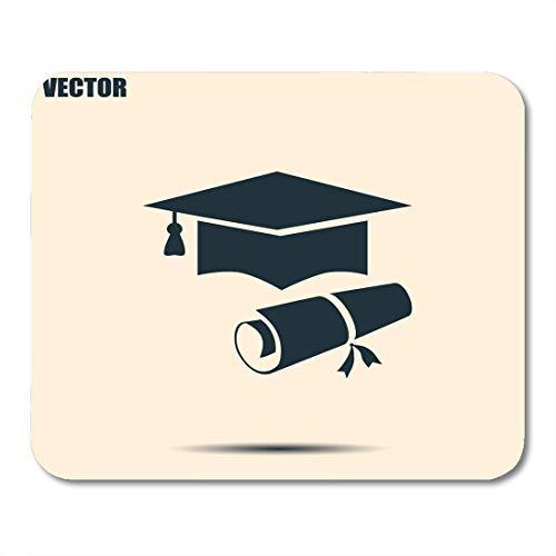 Alfombrilla de ratón Aprender Graduado Gorra de graduación Sombrero Certificado Diploma Master Bachiller Educación Mouse Pad Mousepad