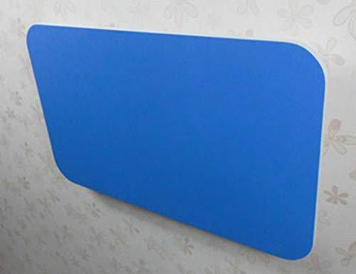 LXDZXY Escritorio de computadora de pared para el hogar - Mesa de comedor de madera maciza de pared Escritorio de computadora plegable Mesa de aprendizaje De madera/Azul/Los 80×40cm