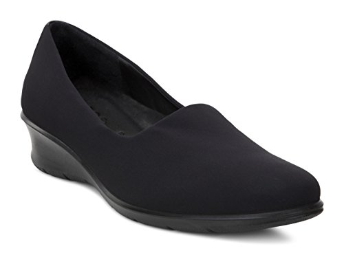 Ecco Footwear Womens Felicia Stretch Flat, Black, 39 EU/8-8.5 M US