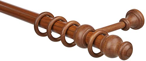 Gardinia Lugano Classic - Cuchillo (diámetro de 28 mm, nogal, 120 cm)