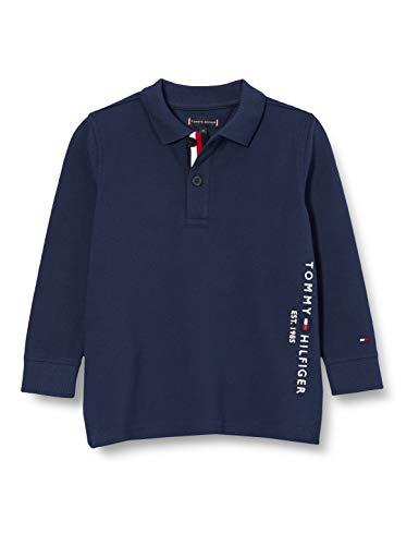 Tommy Hilfiger Jungen Essential Established Polo L/s Hemd, Twilight Navy, 92