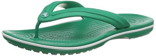 Crocs Unisex Crocband Flip, Deep Green/White, 46/47 EU