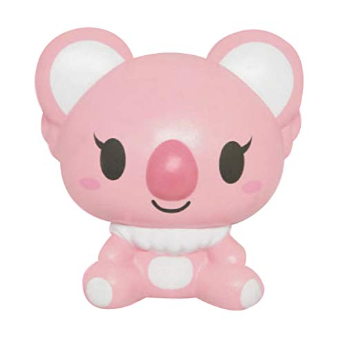 ibloom Koala Cute Animal Slow Rising Squishy Toy (Belle, Pink, Raspberry Scented, 3.7 Inch) [Kawaii Squishies for Birthday Gift Boxes, Party Favors, Stress Balls for Kids, Girls, Boys, Adults]