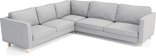 The Heavy Duty Cotton Karlstad Ecksofa-Bezug (2+3/3+2), für IKEA Karlstad Sectional Slipcover Heavy Cotton L Gray
