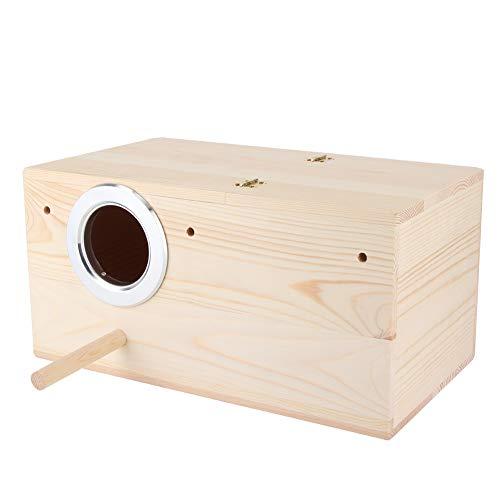 Cafopgrill Wooden Birds House, House Bird Breeding Box Vogelhäuschen Wooden Durable Birds Box Nymphensittiche Bird Breeding Box Hausdekoration
