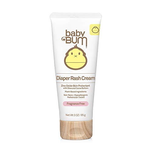 Baby Bum Diaper Rash Cream | Natural Zinc Oxide Ointment for Maximum Relief and Rash Prevention| Fragrance Free | Gluten Free and Vegan | 3 FL OZ