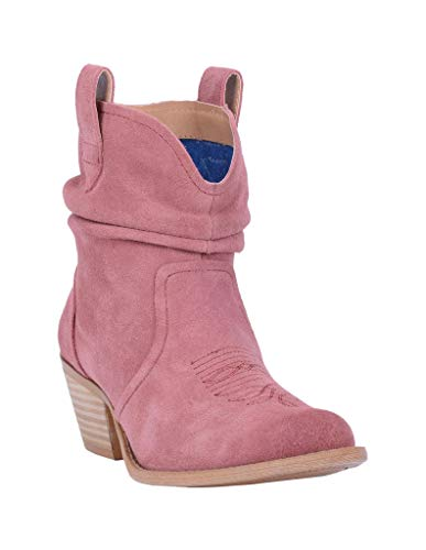 Dingo Women's Blush Jackpot Western Booties Round Toe Blush 8 M