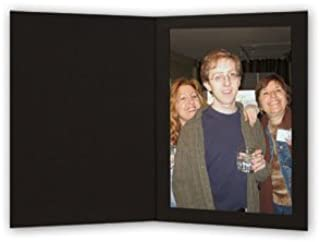 Cardboard Photo Folder 4x6 - Pack of 100 Black