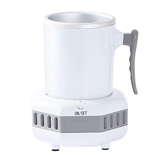 Smart Fast Cooler Cup - 420ml Electric Cooling Cup for Office Home Use, Beverage Cooler Smart Beverage Cooler Cup with Aluminum Mug for Desk Coffee Beer Cola Water Wine Drink