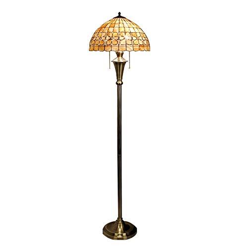 Lámpara de pie Hecha a Mano de la Pantalla de Shell de la Flor de la Perla, Hardware electrochapado, para la Sala de Estar/el Dormitorio/el Estudio (Tamaño : 18inch)