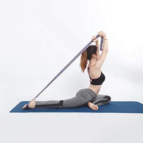 Wankd Gymnastik-Gurt mit 9 Schlaufen | Yoga-Gurt 105 x 3,6 cm | Stretch-Strap für mehr Beweglichkeit | Stretchgurt | Fitness Pilates Physiotherapie Stretch-Gurt (lila)