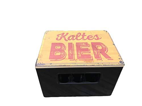 Geschenk Weihnachten-Bierkastensitz Kaltes Bier das besondere Bier-Geschenk für Männer, für Freunde zum Geburtstag, Weihnachten, Vatertag, Sitzhocker Haus und Garten