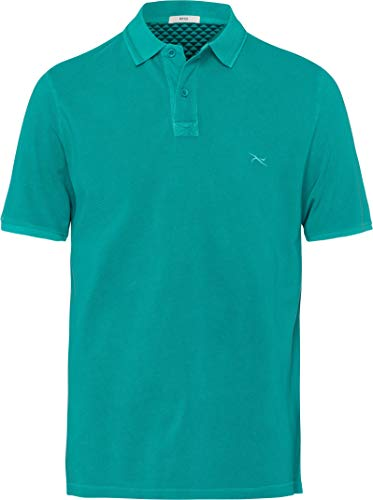BRAX Herren Poloshirt Pele WASHER POLO Shirt Grün (Mint 36) X-Large (Herstellergröße: XL)