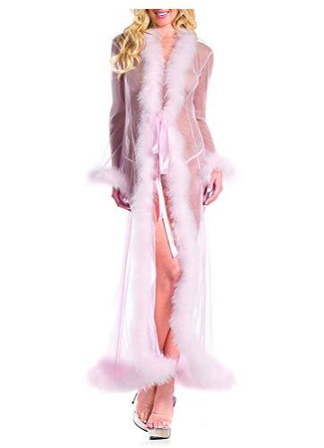 ShineGown Feder Robe Kostüm Zubehörteil für Erwachsene Verrücktes Kleid Brautmantel Sexy Schiere Tüll Abend Pyjama