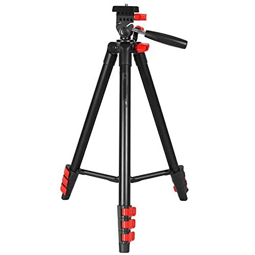 JenLn Trípode para cámara Cámara fotográfica trípode Micro SLR cámara teléfono móvil trípode portátil (Color : Black, Size : 110.5cm)