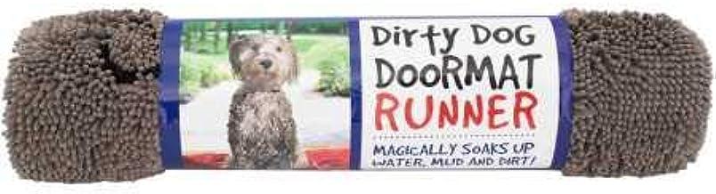 Dog Gone Smart Dirty Dog Doormat Runner, Grey
