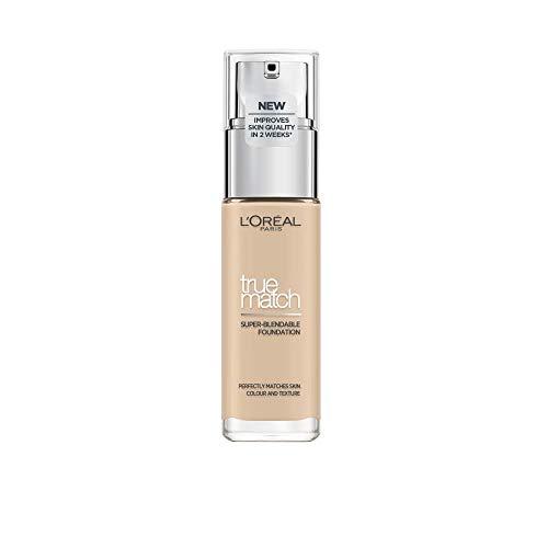 L'Oréal Paris True Match Foundation, flüssiges Make-Up, deckend und feuchtigkeitsspendend für einen natürlichen Teint - 1N ivory (30 ml)