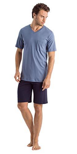 Hanro Herren Night and Day Short Sleeve Pajama Pyjama Set, Rivera, Small
