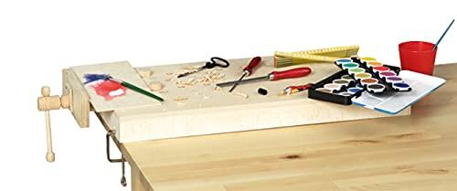 Pebaro 485 Tragbare Arbeitsplatte aus Holz, am Tisch zu befestigen, perfekt für Hobby-Handwerker, 58 x 31 cm