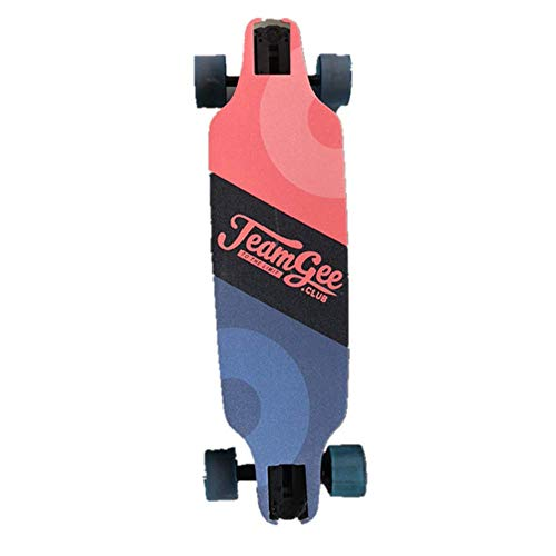 Teamgee H6 37' Electric Skateboard/Longboard with Remote Control, Premium Classic Pintail, 18.6 MPH Top Speed, 760W Dual Motor, 11 Mile Range, Weighs just 13.7 LBS, UL Certification:E503354