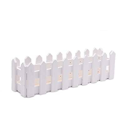 Itemap 10/16/30cm Wooden Fence with Foam for Artificial Flower Vase Home Decoration