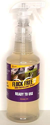 Flock Free Bird Repellent Ready Spray, Ready to Use Bird Spray, Residential Bird Problem Solution, 32oz