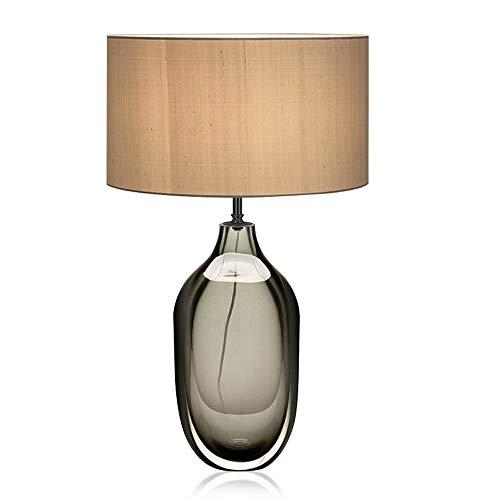 Yjdr Lámpara de mesa de cristal de color minimalista moderna de 25 pulgadas Lámpara de mesita de noche Diseñador de mesa de mesa Estudio de la sala de la sala de la sala Nórdico creativo Lámpara de me